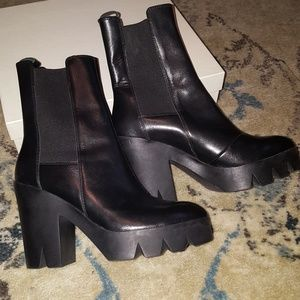 Ash Bkack Leather Boots - Sz. 8
